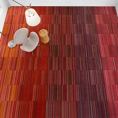 On trend: Creating pattern upon pattern with carpet tile. #gradation #design