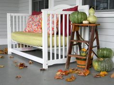 His Baby Is Too Old For A Crib, But He's About To Give It A New Lease On Life By Doing This http://www.wimp.com/crib-upcycles-when-baby-too-big/
