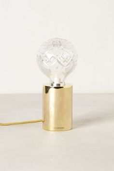 mildly obsessed // crystal bulb brass base table lamp/light