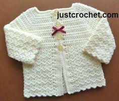 50 super Ideas for crochet baby cardigan girl free pattern sweets Crochet Baby Jacket, Crochet Baby Sweaters, Gilet Crochet, Crochet Baby Blanket Beginner, Crochet Cardigan Pattern, Baby Girl Crochet, Crochet Baby Clothes, Crochet Baby Hats, Crochet For Kids