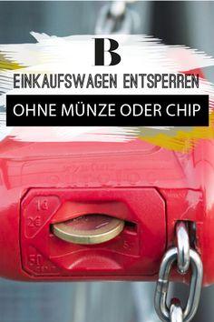 Life Hack: Keine Münzen und keinen Chip dabei? Wir zeigen dir, wie du quasi mit dem Schlüssel-Schloß-Prinzip trotzdem einen Einkaufswagen kriegst.
