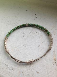Upcycled guitar string bracelet