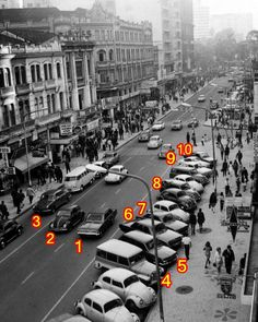 1 - Opala; 2 - Fusca  3 - JK; 4 - Rural; 5 - Corcel Belina (I); 6 - Dodge Dart; 7 - Corcel (I); 8 - DKW Vemag; 9 - VW TL; 10 - VW Karmanguia.
