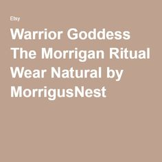 Warrior Goddess The Morrigan Ritual Wear Natural by MorrigusNest