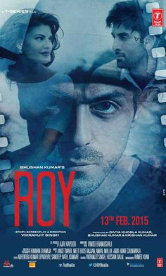 'Roy' poster featuring Ranbir Kapoor, Arjun Rampal and Jacqueline Fernandez. #Bollywood #Movies
