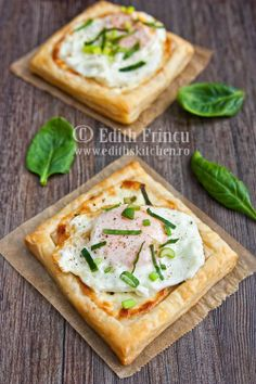 cheese, egg and spinach breakfast tarts