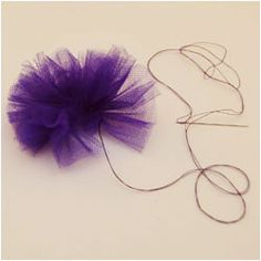 Make tulle flowers than can be attached to hats and headbands.