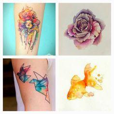 FRANKIE SAVAGE: Watercolour tattoos