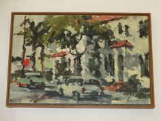 Ernest Chandonet Vintage California Impressionism Street Scene Painting