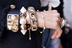 arm full of bracelets!