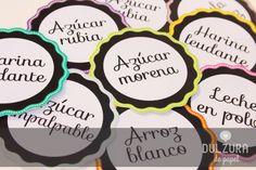 Etiquetas para Frascos gratis con textos | Free Printable Mason Jar Labels with editable text editables #etiqueta #imprimible #gratis