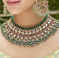 Indian Bridal Jewelry Sets Brides Jewels 63 Ideas For 2019 Bridal Necklace, Necklace Set, Indian Bridal Jewelry Sets, Bridal Jewellery, Gold Jewellery, Designer Jewellery, Temple Jewellery, Antique Jewellery, Moda Indiana
