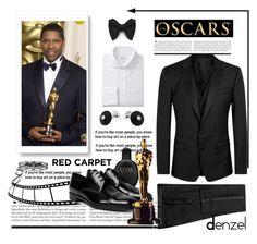 """Denzel Washington"" by conch-lady ❤ liked on Polyvore featuring Dolce&Gabbana, Van Cleef & Arpels, Calvin Klein, Prada, men's fashion, menswear, redcarpetlook, oscarnight and DenzelWashington"