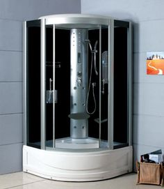 48 x 36 Charfield Corner Steam Shower Enclosure Steam Showers