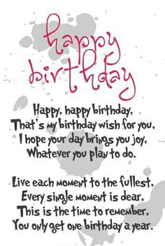 Looking for happy birthday poems? Find hundreds of poems here to wish a special Happy Birthday to your loved ones. Happy Birthday Baby Girl, Happy Birthday Best Friend, Happy Birthday Wishes Cards, Birthday Wishes For Myself, Birthday Blessings, Happy Birthday Quotes, Birthday Greetings, Male Birthday, Birthday Sentiments