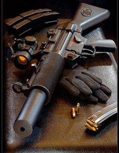 Don't normally like pistol caliber rifles, but I love the look of this one…. Zombie Weapons, Weapons Guns, Guns And Ammo, Heckler & Koch, Submachine Gun, Fire Powers, Cool Guns, Assault Rifle, Military Weapons