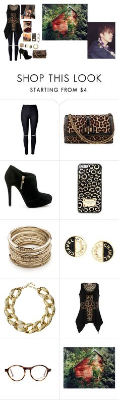 """""""Cabin With Ken"""" by kpopisbae4life ❤ liked on Polyvore featuring WithChic, Christian Louboutin, MICHAEL Michael Kors, Sole Society, Chanel, Kenneth Jay Lane, WALL and vixx"""