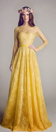 Wedding Gowns by Hamda Al Fahim | Gowns, Robe and Yellow shades