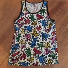 Tank top Colorful tank top featuring dancing people and alligators. Urban Outfitters Tops Tank Tops