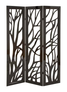 "Woodland Imports 72"" x 48"" 3 Panel Room Divider & Reviews | Wayfair"