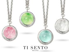Ti Sento Milano vibrant color pendants - available at Daniel Jewelers, Brewster New York