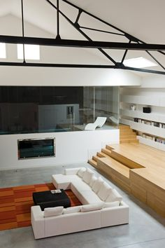 Industrial meets Refined in a Loft in a Former Garage, France