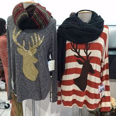 Alright Southern Bells which is your favorite?! Right or Left? #BeTheBuyer #BoBel #southern #MagicLasVegas #deer #clothing #fall