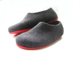 Red Sole Felted Wool Shoes Black. Women - hardtofind.