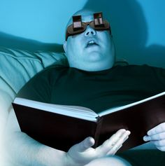 lazy glasses. for reading in bed! this is too funny!! how did they know?