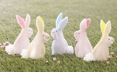 How to Make Felt Rabbit Finger Puppets #Easter
