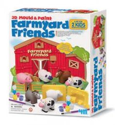 Mould it! Paint it! Make six 3-dimensional farmyard animals and place them onto the pop-up play scene. A fun activity for the whole family.