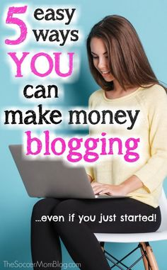 REAL tips to start making money blogging, even if you're not getting a million hits a month! 5 ways to set yourself up for success at the beginning.