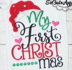 My First Christmas Applique - 2 Sizes! | What's New | Machine Embroidery Designs | SWAKembroidery.com So Cute Appliques