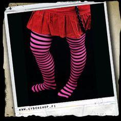Raitasukkahousut -Musta/pinkki