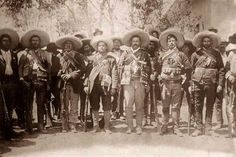 Pancho Villa and staff - Mexican Revolution 1910-1920