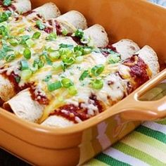 Skinny Chicken Enchiladas - a delicious and simple weeknight dinner.