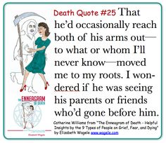 "Death Quote #25 from ""The Enneagram of Death"" by Elizabeth Wagele"