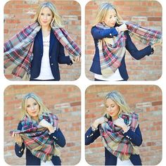4 Blanket Scarf Tutorials & a video on the blog this morning! Click on the link in my profile  Also I found this scarf for under $15 and several other adorable ones!! @liketoknow.it www.liketk.it/1XA5l #liketkit