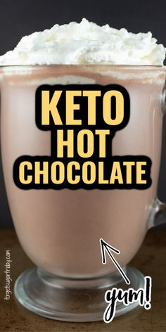 Keto Snacks, Ketogenic Desserts, Diabetic Drinks, Low Carb Drinks, Keto Recipes, Cooking Recipes, Fall Recipes, Keto Drink, Keto Hot Chocolate Recipe