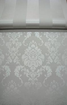 wit parelmoer barok behang 120 | barok behang papier | ALPERBEHANG de grootste behangwinkel van nederland direct uit voorraad leverbaar