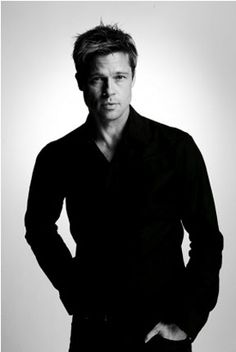 Brad Pitt by Nigel Parry  Damn him for being so pretty