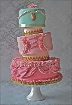 a whimsical twist on an elegant cake.