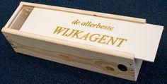 Houten #wijn kist gegraveerd met persoonlijke tekst
