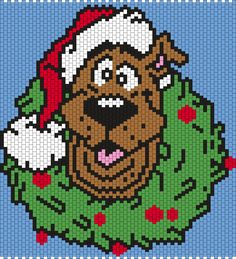Scooby-Doo Christmas Wreth (Multi) Bead Pattern