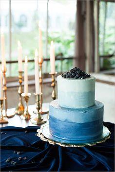 #blue #watercolor #wedding #cake @weddingchicks