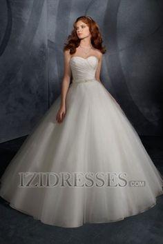 Ball Gown Empire Strapless Sweetheart Organza Beach Wedding Dresses
