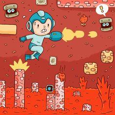 Mega Man by Sam Rennocks