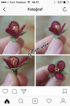 This post was discovered by Beyza Ciftci. Discover (and save!) your own Posts on Unirazi. Crochet Flower Tutorial, Crochet Flowers, Crochet Trim, Bead Crochet, Diy And Crafts, Arts And Crafts, Point Lace, Needle Lace, Beaded Bags