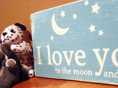 Typography Wall Art I Love You to the Moon and Back by 13pumpkins, $35.00