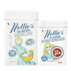 Nellie's Laundry Soda and Oxygen Brightener Set - modern - laundry products - by Crate Modern Laundry Products, Best Laundry Detergent, Eco Friendly Cleaning Products, Cloth Pads, Natural Cosmetics, Cloth Diapers, Crate And Barrel, Packaging Design, Soap Packaging